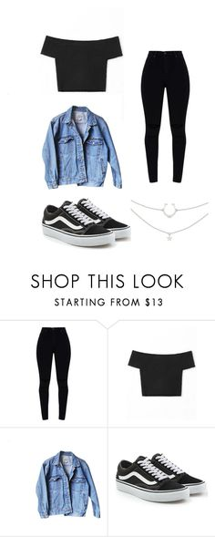"""DAY 5"" by paolapiavalentini ❤ liked on Polyvore featuring Levi's and Vans"