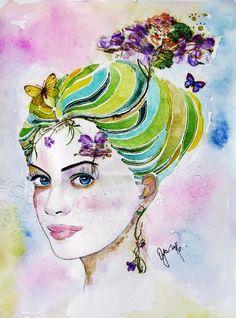 portraits,woman,art,OyaArt,beauty,paintings #art #kunst #portraitur