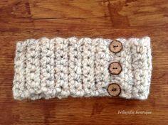 Button Headband, Crochet Headband, Earwarmer, Wheat Color, Gift For Her, Women Fall/Winter Fashion Accessory, Easter, Ready to Ship!!!