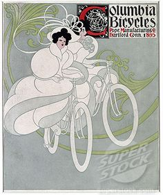 Columbia bicycles, pope manufacturing co. by William Bradley, poster