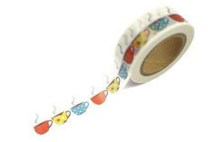 Image of Coloured Tea/Coffee Cup Washi Tape Washi Tape Cards, Washi Tapes, Masking Tape, Cool Stationery, Stationary, Packaging Supplies, Paper Tape, Pretty And Cute, Happy Planner