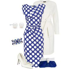 """""""blue and white"""" by borntoread on Polyvore"""