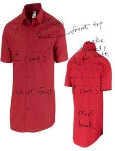 Пара платьев из рубашек / Рубашки / Своими руками - выкройки, переделка одежды, декор интерьера своими руками - от ВТОРАЯ УЛИЦА