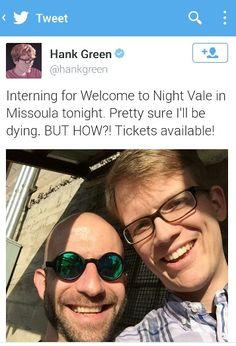 Aaaaaaahhhhhh!!!!! Hank Green - intern for Nightvale Radio!!! Freaking fangirling... I just . .. Cant   .... Sjsjjlgaaahhdlhgsdjtu