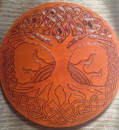 https://flic.kr/p/y8XuSk | 2013 - Leather - Tree of Life Targe - 50 of 65