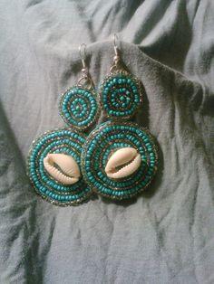 Caribbean Sea Earrings $22.00 at etsy.com under Rebelorisha