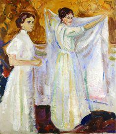 Two Nurses - Edvard Munch