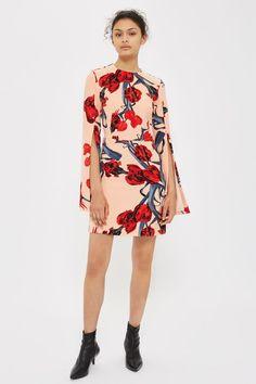 cca977e4cf TALL Floral Split Sleeve Shift Dress - Dresses - Clothing. topshop.com