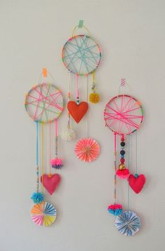 DIY Dreamcatchers: So much room for creativity with these cheery dreamcatchers from the Art Bar.