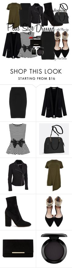 """""""Plus Size Dressed - with Plus size"""" by alice-durica on Polyvore featuring Manon Baptiste, WearAll, Avenue, River Island, Valentino, Dune, MAC Cosmetics and plus size clothing"""