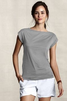 This sort of thing could work for summer - with longer shorts, and make sure the top is narrow/sleek enough.