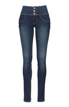 Mega lækre Happy Holly Jeans M?rk denim fra Halens Happy Holly Underdele til Outlet i behageligt materiale