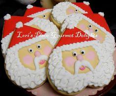 Heart Santa Face Cookies | via Etsy.