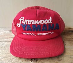 d400153638dfe6 Vtg 80s Lynnwood YAMAHA Washington Mesh Trucker Hat USA Snapback Baseball  Cap #BaseballCap Baseball Cap