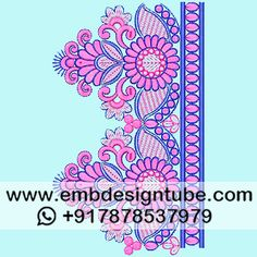 Textile Patterns, Embroidery Patterns, Textiles, Email Subject Lines, Border Design, Sketch Design, Embroidery Dress, Damask, Dressing