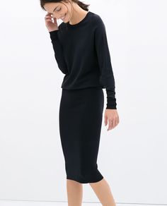 DRESS WITH PENCIL SKIRT - Dresses - WOMAN | ZARA United States