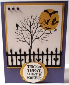 HALLOWEEN BRANCH OUT card kit made with Stampin Up products | eBay