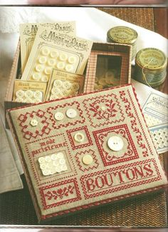 Gallery.ru / Фото #55 - Cartonnage Brode - Mongia   Button Box