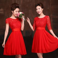 Find More Information about 2014 Red Fashion Hollow Lace Short Sleeve Round Collar Silk Chiffon Formal Party Dress Bridesmaid Dresses ,High Quality dress up time prom dresses,China dress problem Suppliers, Cheap dress up casual dress from LiuLin Store on Aliexpress.com