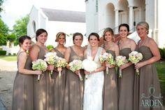 Meredith and her bridesmaids in front of Calvary Baptist Church in Tuscaloosa, Alabama. #wedding #Dorothymcdanielsflowermarket #Alabamawedding #southernwedding #tuscaloosawedding