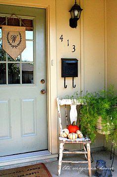 The Virginia House: NO SEW! Front Door Decor