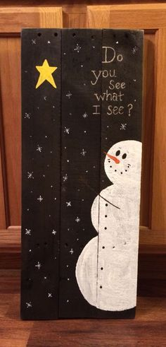 Snowman pallet sign