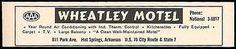 Wheatley Motel Ad Hot Springs Arkansas AC TV Kitchens 1964 Roadside Ad Travel