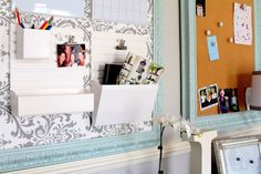 nice homey way to update a parent board | Top This Top That: Can Organization Be Stylish....You Bet