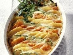 Rezept: Kartoffel-Gemüse-Gratin mit Zucchini und Karotten