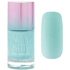 Forever21 Mint Satin Matte Nail Polish found on Polyvore featuring beauty products, nail care, nail polish, nail, mint, forever 21 and forever 21 nail polish