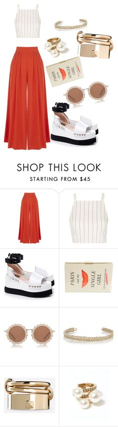 """""""Book Clutch"""" by lesliebayo ❤ liked on Polyvore featuring Warehouse, Topshop, Karl Lagerfeld, Kate Spade, House of Holland, Maison Margiela, Valentino and Oscar de la Renta"""