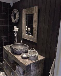 13 Tips to Make Your Bathroom Sparkle . Cabin Bathrooms, Rustic Bathrooms, Dream Bathrooms, Modern Bathroom, Bathroom Sink Units, Bathroom Goals, Interior Styling, Interior Decorating, Rustic Bathroom Designs