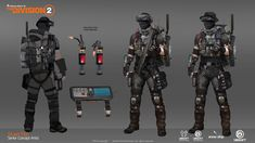 The Division Gear, Tom Clancy The Division, Apocalypse Games, Apocalypse Character, Game Concept Art, Armor Concept, Cyberpunk, War Pigs, Tactical Armor