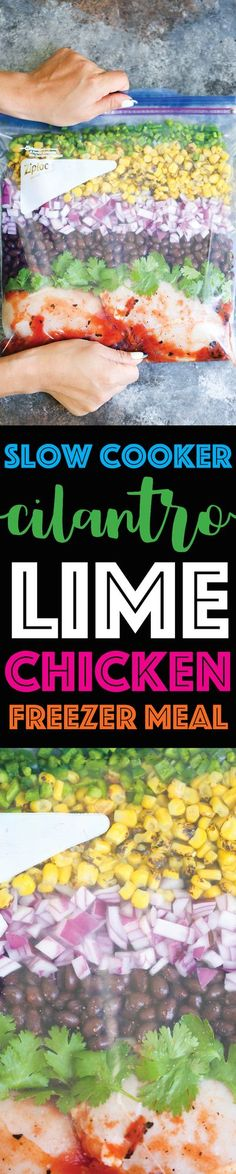 Slow Cooker Cilantro Lime Chicken (Freezer Meal)