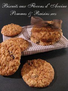 J'en reprendrai bien un bout...: Biscuits aux Pommes & aux Flocons d'Avoine (Martha...