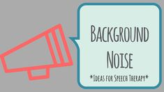 Today I'm sharing a collection of free background noises to usein speech therapy. We work with people returning to restaurants, malls, jobs, and families, so let's bring a little of th…