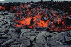 A'a lava forms individual rocks anywhere from a few inches to many feet in size. The rocks are porous and very jagged.