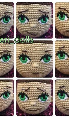 How To Crochet an Amigurumi Rabbit - Crochet Ideas Crochet Dolls Free Patterns, Crochet Doll Pattern, Amigurumi Patterns, Amigurumi Doll, Doll Patterns, Knitting Patterns, Crochet Eyes, Doll Eyes, Knitted Dolls