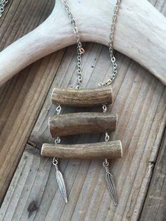 Deer Antler Necklace Real Antler Necklace Antler Bar Necklace Antler Jewelry Tine Designs by Mindi