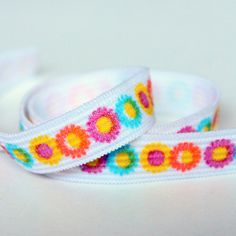 Printed Elastic  Half Inch Wide Elastic by StitchKnit on Etsy, $5.00 Great for headbands & hair ties!