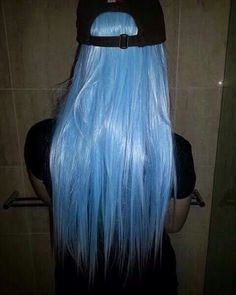 Imagen de girl, hair, and blue