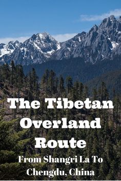 """Want to visit Tibet without going on a tour? Have you heard of the Tibetan Overland Route, or the """"backdoor"""" from Shangri La to Chengdu in China? One of the most amazing things to do in the country. #china #overland #overlandtravel"""
