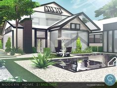 The Sims Resource: Modern Home 2 by Pralinesims • Sims 4 Downloads
