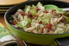 They'll follow their noses right to the table once they get a whiff of your Fried Cabbage. This tasty, easy cabbage recipe only uses five ingredients (one of them is bacon!), so you can whip up this super side dish in no time!