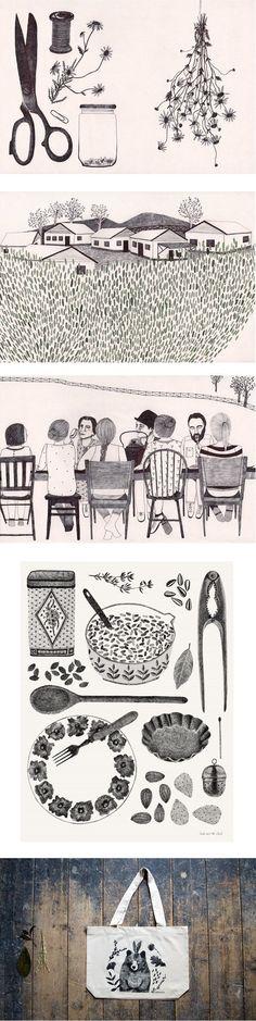 Illustrations by Dutch graphic designer and illustrator Lieke van der Vorst