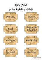 Poppy makes... Harry Potter inspired potion labels printable. Go to my blog poppymaakt.blogspot.com to get this FREE printable. Have fun! Poppy maakt... Harry Potter geïnspireerde potion labels knutselplaat. Ga naar mijn blog poppymaakt.blogspot.com om deze GRATIS knutselplaat te krijgen. Veel Plezier! #Harry #Potter #AndTheCursedChild #printable #knutselplaat #MyOwnHPmarathon #DIY #PDF #party #feest #potion #labels