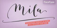 Mila Script Pro™ - Webfont & Desktop font « MyFonts