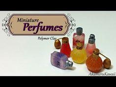 Miniature Perfumes - Polymer clay tutorial - YouTube