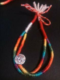 Baba Marta, Spring Crafts, Fiber Art, Washer Necklace, Crochet Necklace, Bulgarian, Earrings, Anna, Handmade