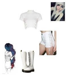 """White"" by frostbiten ❤ liked on Polyvore featuring Tripp, Glamorous and Dr. Martens"